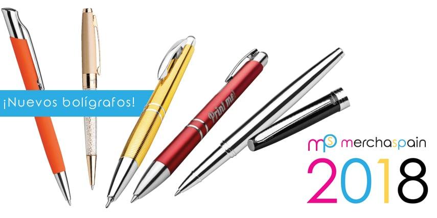Ya están disponibles los nuevos bolígrafos 2018