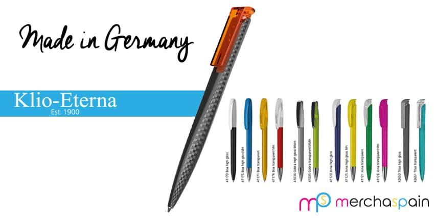Klio-Eterna, bolígrafos de tecnología alemana