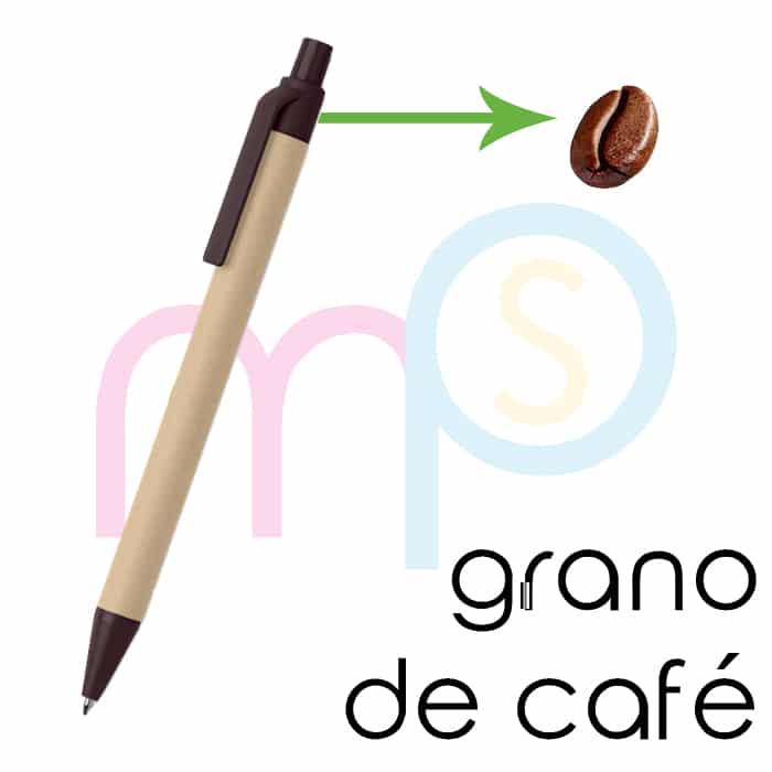 Bolígrafo ecológico de café - Merchaspain, bolígrafos personalizados